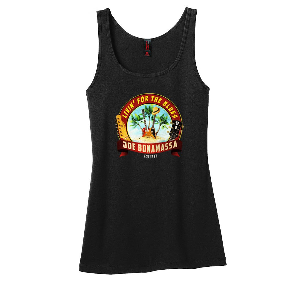 Livin' for the Blues Tank (Women) - Black