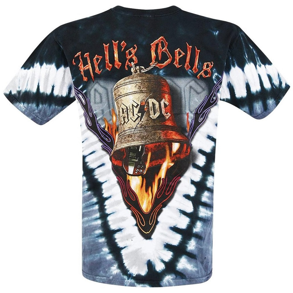 AC/DC - Hells Bells Tie Dye T-Shirt (Men)