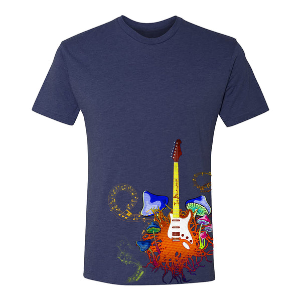 Psychedelic Blues T-Shirt (Unisex) - Vintage Navy