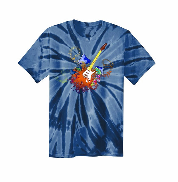 Psychedelic Blues Tie Dye T-Shirt (Unisex) - Navy