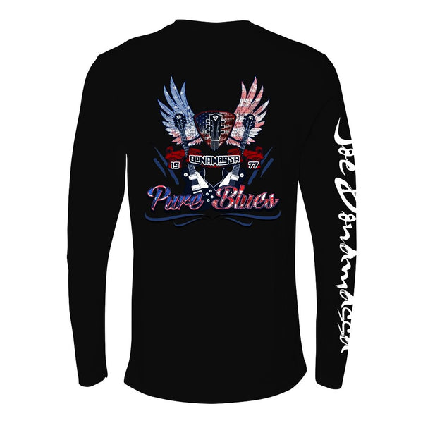 Pure Blues Long Sleeve (Men) - Black