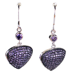 Bona-Fide Amethyst Guitar Pick Earrings