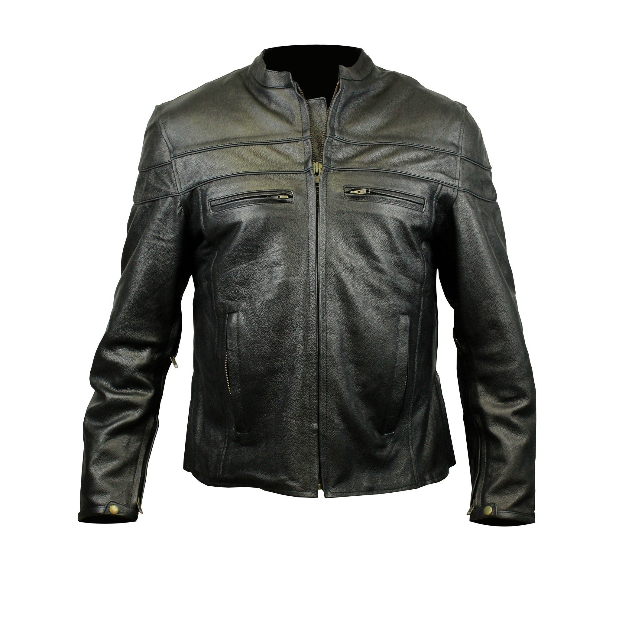 Racer Leather Jacket with Vents (Men)