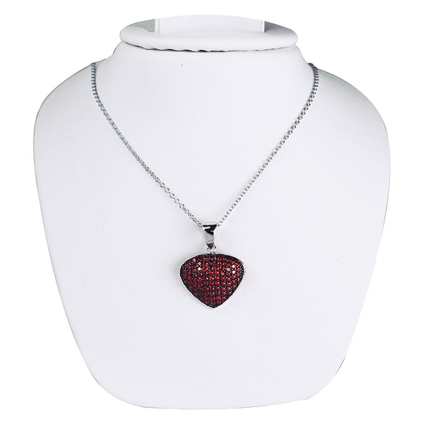 Bona-Fide Garnet Guitar Pick Necklace