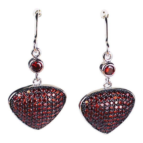 Bona-Fide Garnet Guitar Pick Earrings
