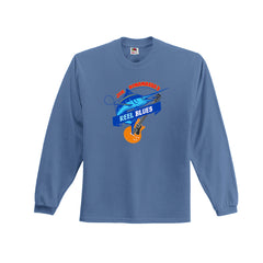 Reel Blues T-shirt - Light Blue Long Sleeve (Men)