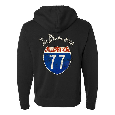 JB Route 77 Zip-Up Hoodie (Unisex) - Black
