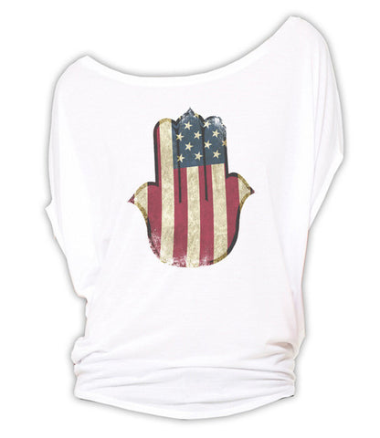 USA Hamsa - Circle Top (White)