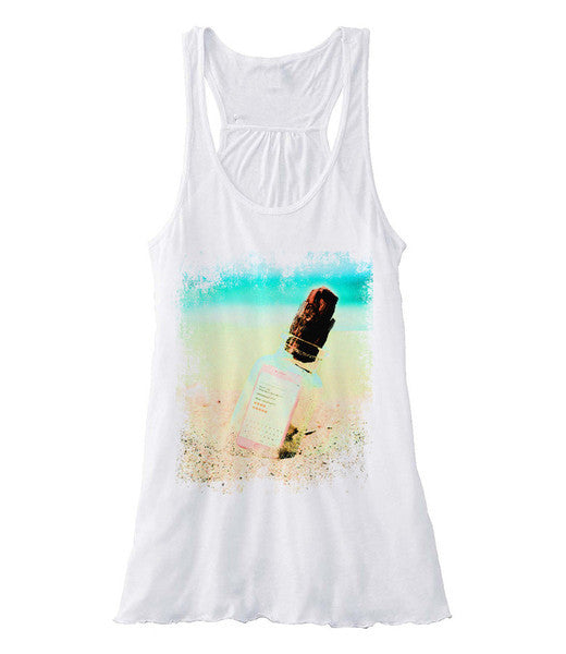 Text Message in A Bottle - Racerback (Women)