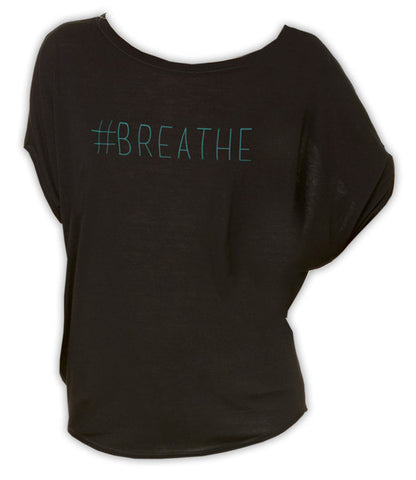 #Breathe - Circle Top (Black)