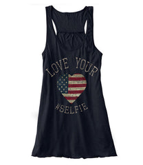 Love Your Selfie - Racerback (Black)