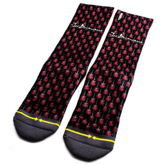Red Guitar Crew Socks by Merge4