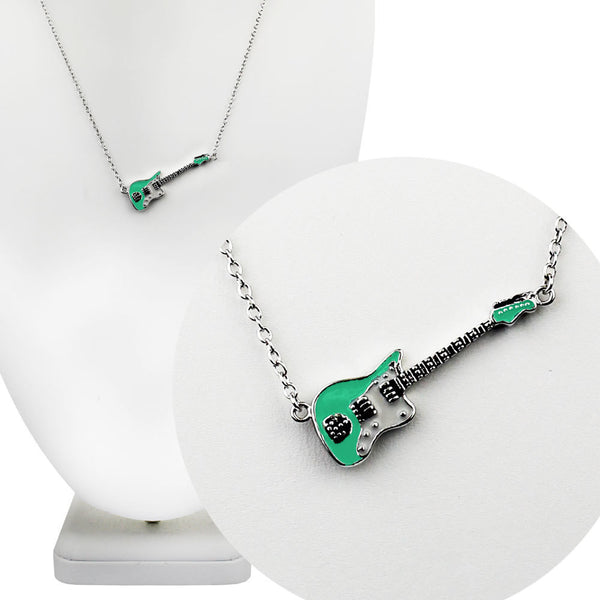 Sea Foam Green Fender Jazzmaster Guitar Necklace
