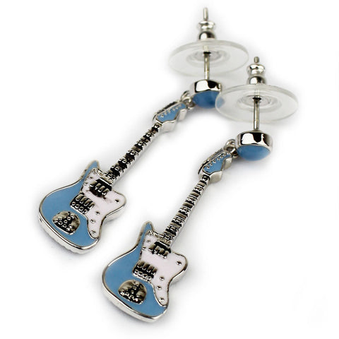 Sonic Blue Fender Jaguar Guitar Earrings