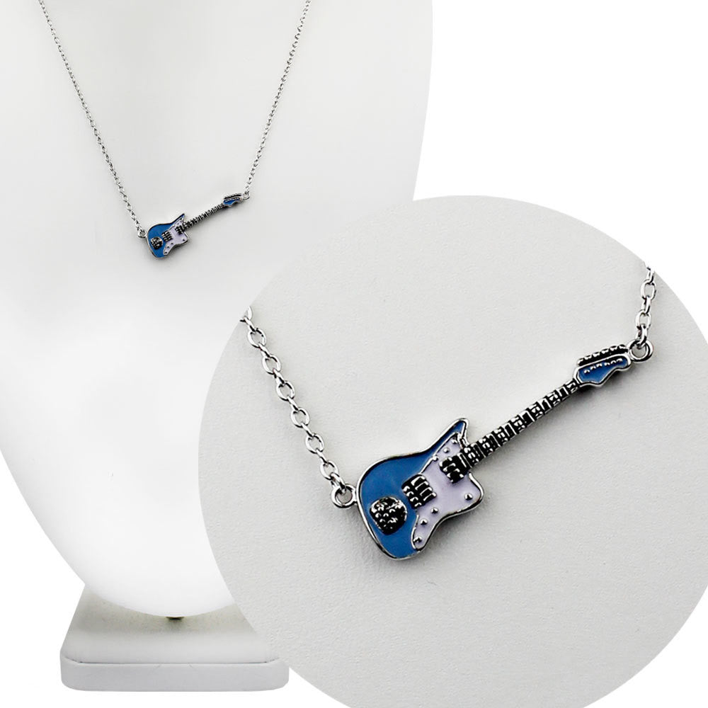 Sonic Blue Fender Jaguar Guitar Necklace