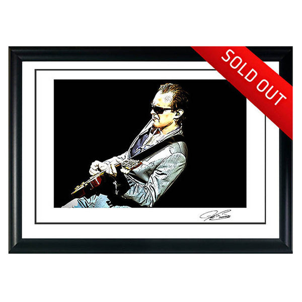 "#13 ""The Terminator"" JOE BONAMASSA Collectible Litho (FRAMED - USA ONLY)"