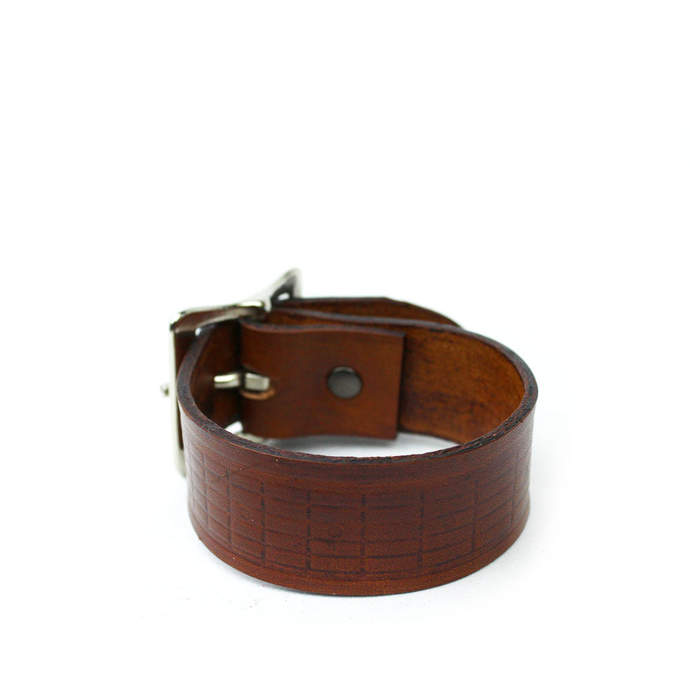 Fret Board Leather Bracelet (Thick)