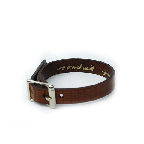 Fret Board Leather Bracelet (Thin)