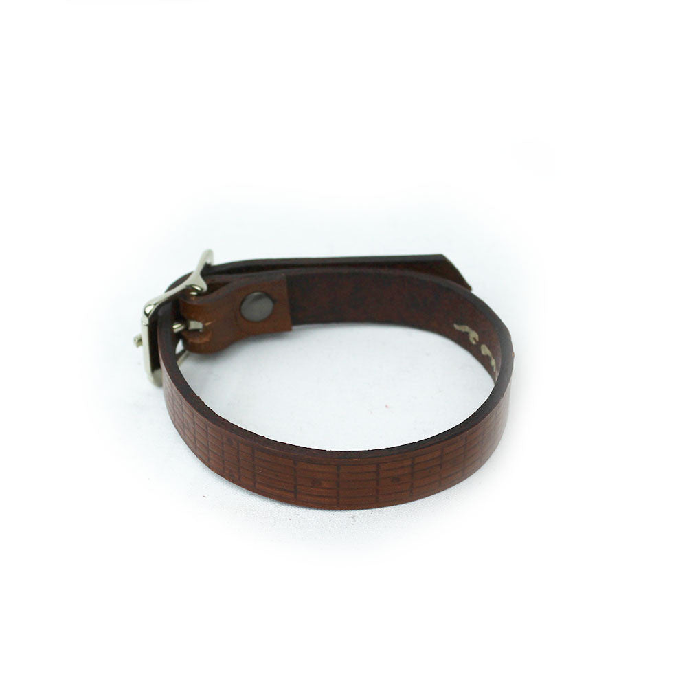 Headstock Leather Bracelet (Thin)