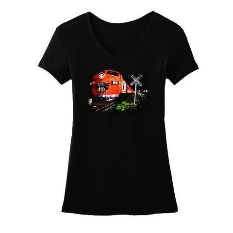 """This Train"" V-Neck T-Shirt (Women)"