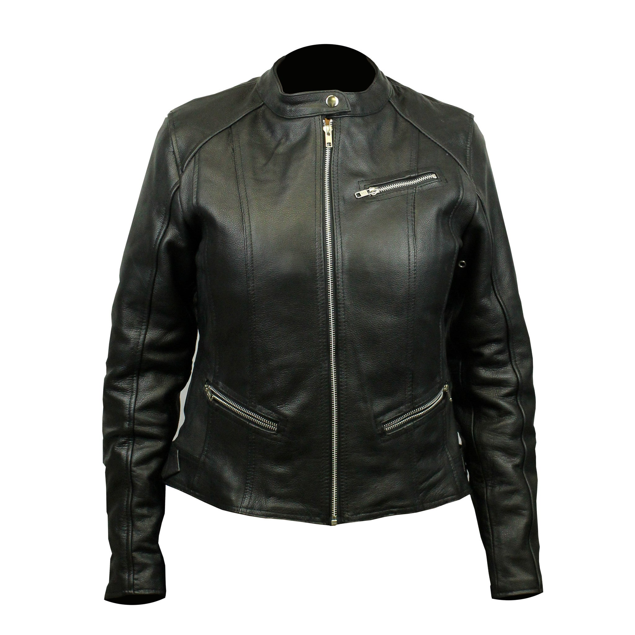 Top Grain 3 Pocket Leather Jacket (Women)