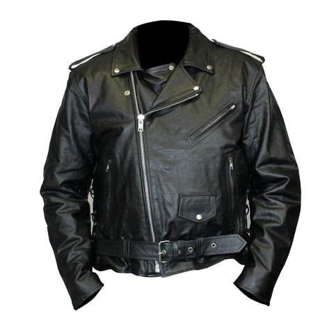Vance Mens Basic Motorcycle Jacket W//Side Laces /& Zip Out Liner