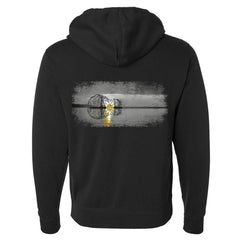 Tribut - Grey Acoustic Sunset Zip-Up Hoodie (Unisex)