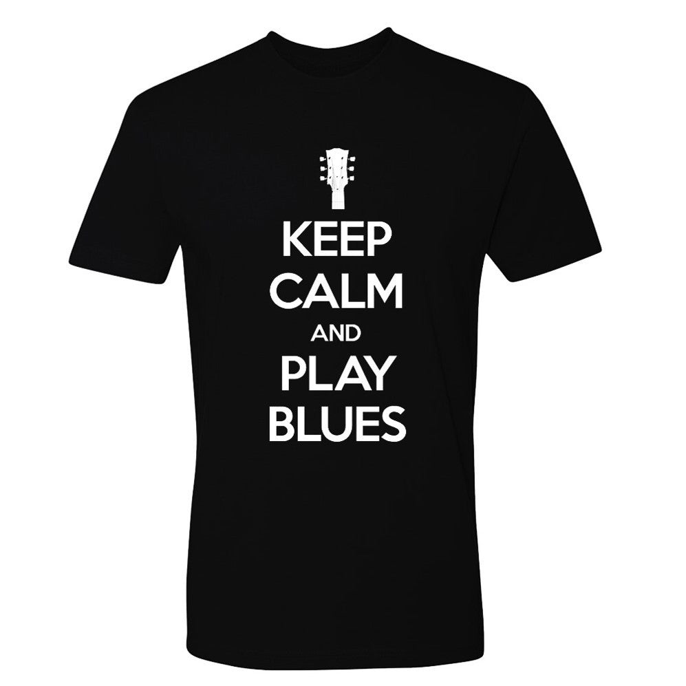 Tribut - Keep Calm And Play Blues T-Shirt  (Unisex)