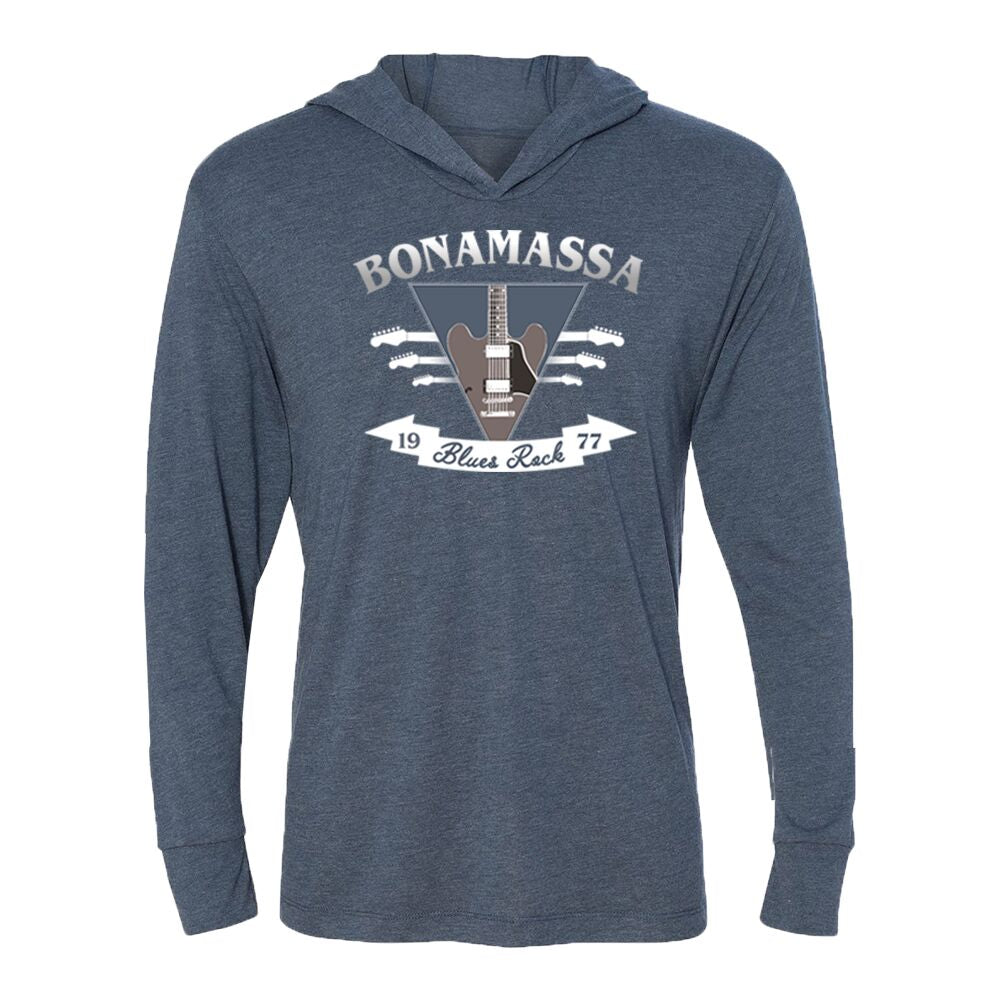Blues Rock Guitar Logo Long Sleeve & Hoodie (Unisex) - Indigo