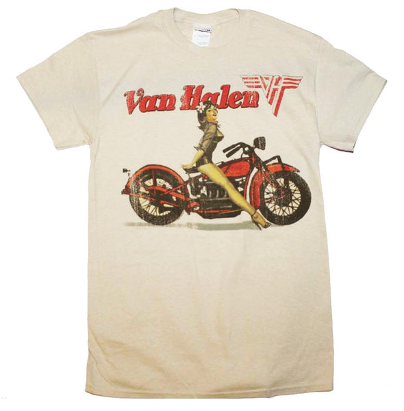Van Halen Biker Pin Up T-Shirt (Men)