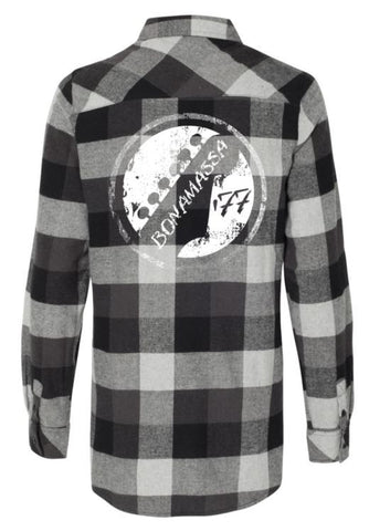Vintage Headstock Flannel Long Sleeve (Women) - Black