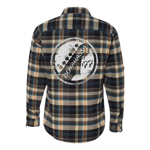 Vintage Headstock Flannel Long Sleeve (Men) - Dark Khaki