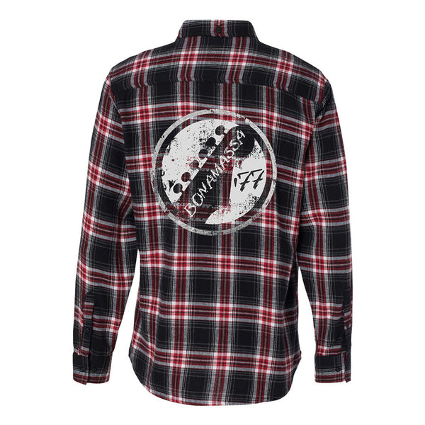 Vintage Headstock Flannel Long Sleeve (Men) - Red & Black