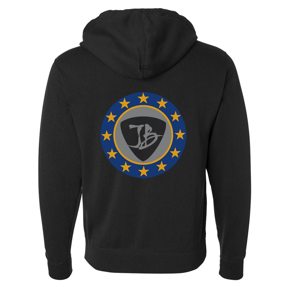 Vintage Star Shield Zip-Up Hoodie (Unisex)
