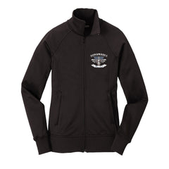 Blues Rock Guitar Logo - The North Face Tech Full-Zip Fleece Jacket (Women) - Black