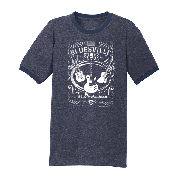 Welcome to Bluesville Contrast T-Shirt (Men) - Heather Navy