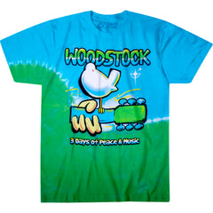 Woodstock - Graffiti Tie Dye T-Shirt (Men)