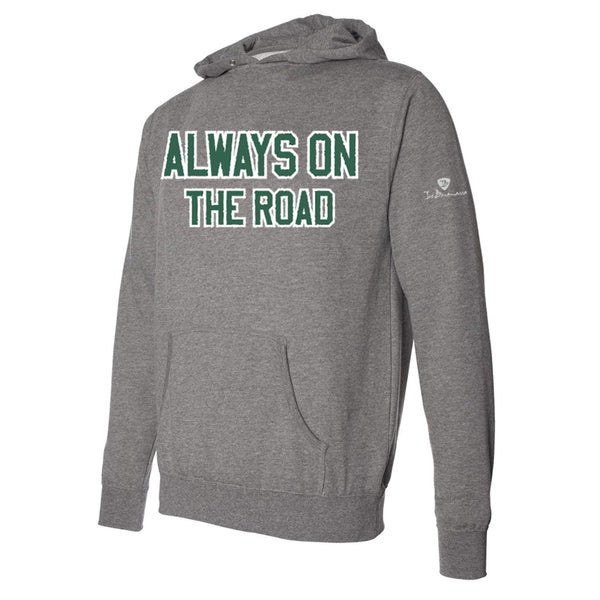 Always on the Road Applique Pullover Hoodie - Green/Heather (Unisex)