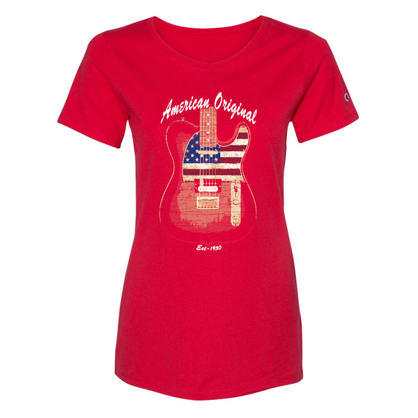 American Original Champion Short Sleeve T-Shirt (Women) - Red