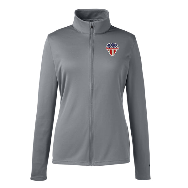 American Style Puma Zip-Up Jacket (Women) - Grey