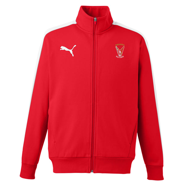Peace Sign Puma Fleece Track Jacket (Men) - Red