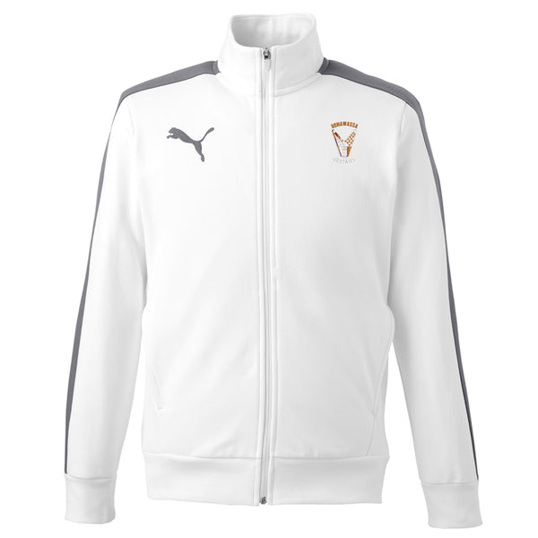 Peace Sign Puma Fleece Track Jacket (Men) - White