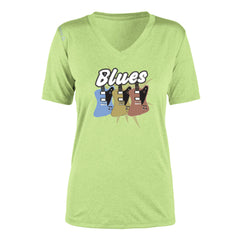 Blues Amigos Reebok Endurance T-Shirt (Women) - Lime