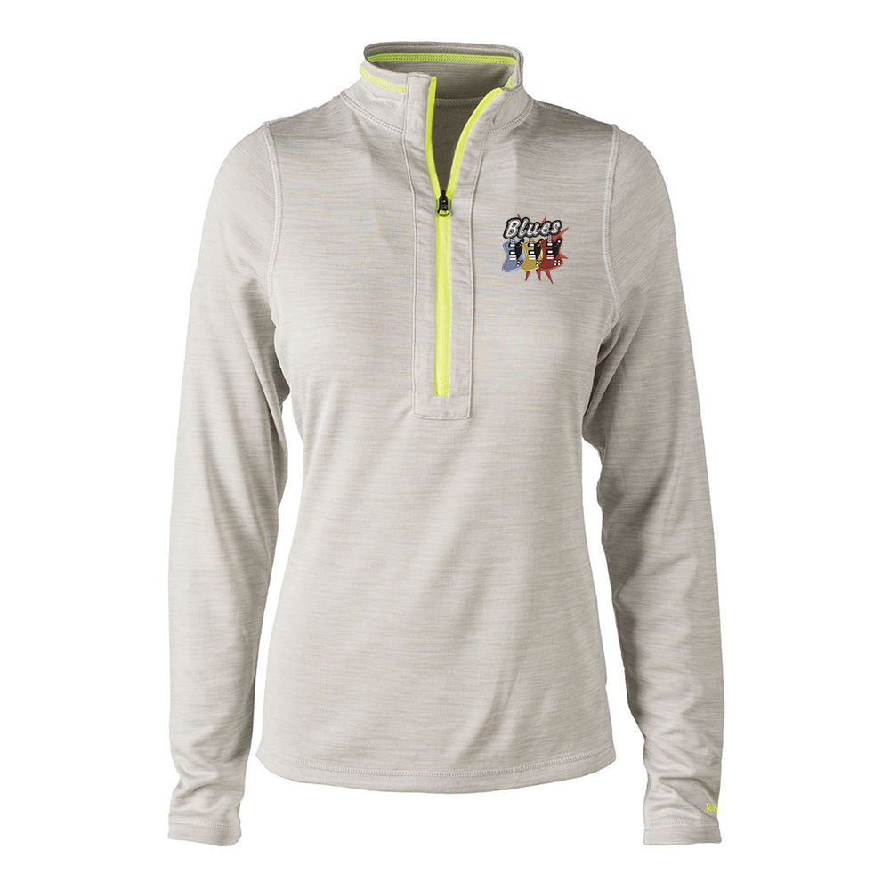 Blues Amigos Reebok Circuit 1/4 Zip-Up (Women) - Oatmeal