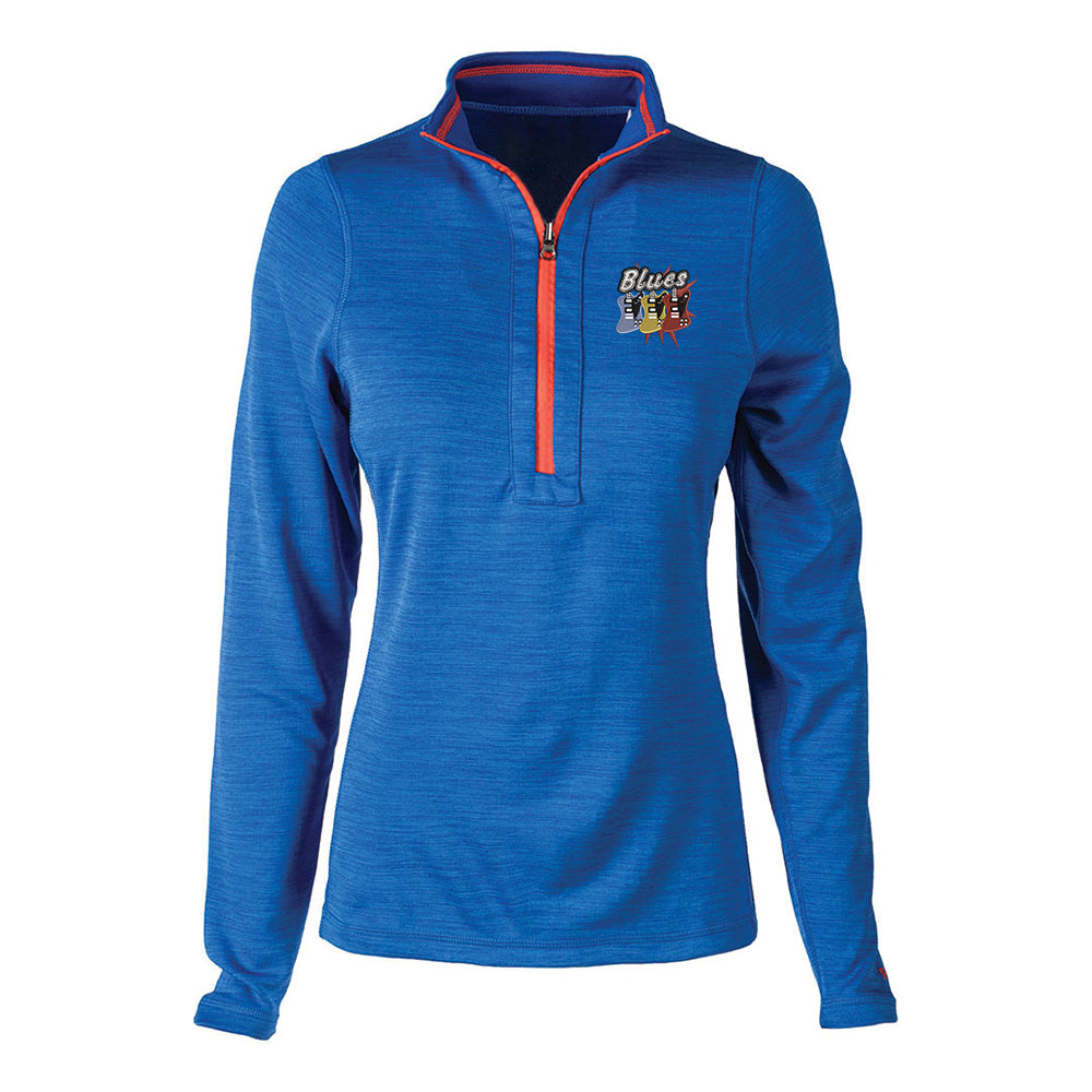 Blues Amigos Reebok Circuit 1/4 Zip-Up (Women) - Royal