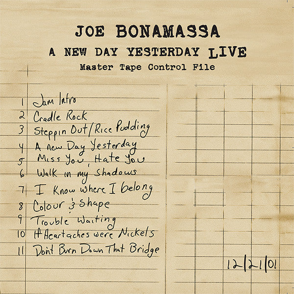 A New Day Yesterday Live Full Album Digital Download