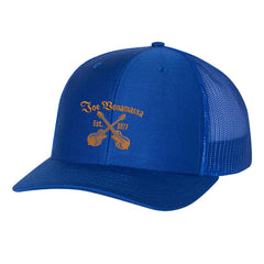 Always On The Road Snapback Trucker Hat - Royal