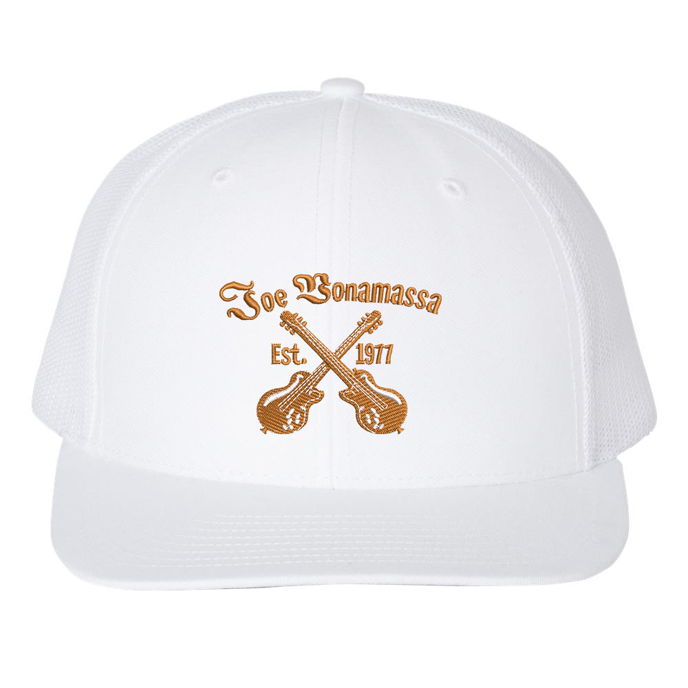 Always On The Road Snapback Trucker Hat - White