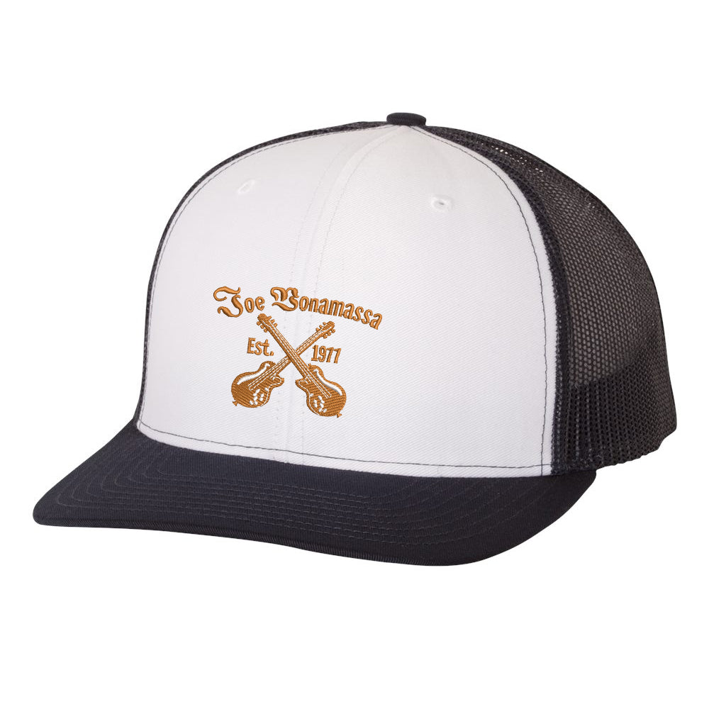 Always On The Road Snapback Trucker Hat - White/Navy