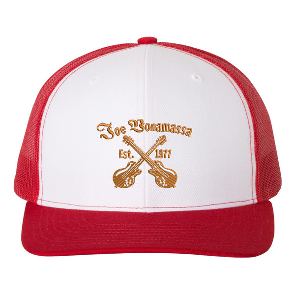 Always On The Road Snapback Trucker Hat - White/Red